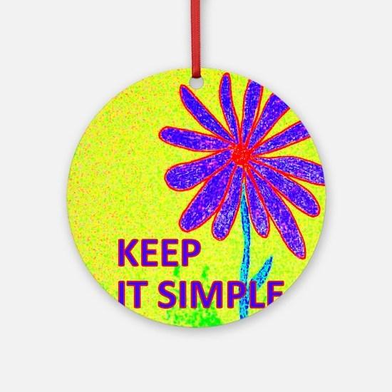 Wildflower Keep It Simple Round Ornament