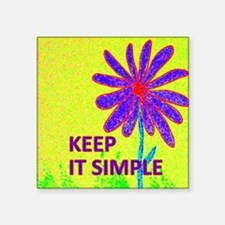 "Wildflower Keep It Simple Square Sticker 3"" x 3"""