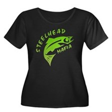 SHM Logo Women's Plus Size Dark Scoop Neck T-Shirt