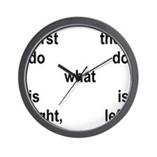 Righ&tLeft Conduct Wall Clock