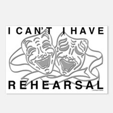 REHEARSAL with Grey Drama Postcards (Package of 8)