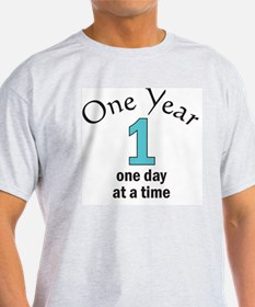 One Year -- one day at a time T-Shirt