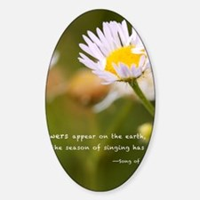 Flowers on the earth Sticker (Oval)
