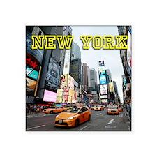 "Times Square New York City  Square Sticker 3"" x 3"""