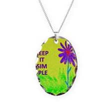 Wildflower Keep It Simple Necklace Oval Charm