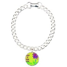 Wildflower Keep It Simpl Charm Bracelet, One Charm