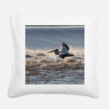 pelican 8x8 Square Canvas Pillow