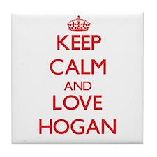 Keep calm and love Hogan Tile Coaster