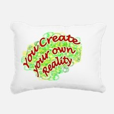 Create Reality+6 Rectangular Canvas Pillow