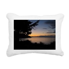 Sunset from our backyard Rectangular Canvas Pillow