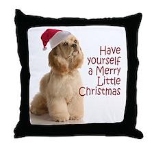 Santa Cocker Throw Pillow