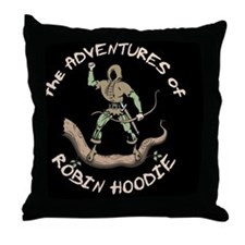 robin-hoodie-BUT Throw Pillow