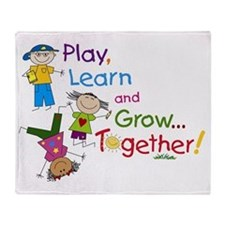 Play, Learn, Grow Together! Throw Blanket