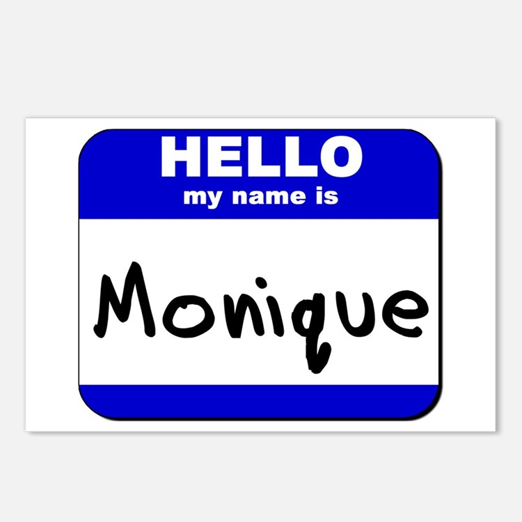 hello my name is monique  Postcards (Package of 8)