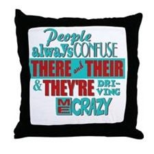 There Their and Theyre Throw Pillow