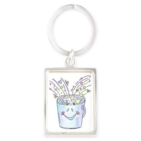 Happy Bucket Portrait Keychain