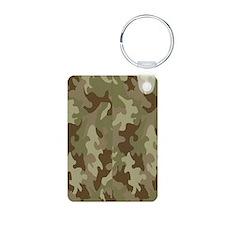 Camouflage Aluminum Photo Keychain