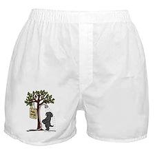 Black Labrador Shower Boxer Shorts