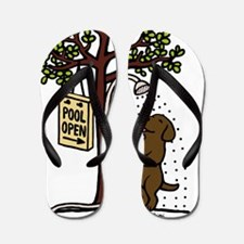 Chocolate Labrador Shower Flip Flops