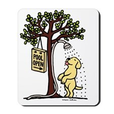 Yellow Labrador Shower Mousepad