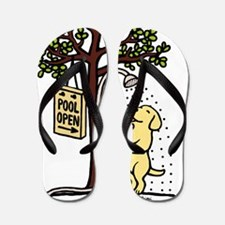 Yellow Labrador Shower Flip Flops