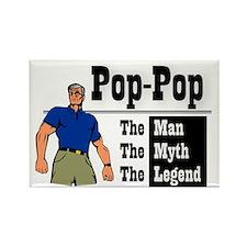 Pop-Pop The Man, The Myth, The Le Rectangle Magnet