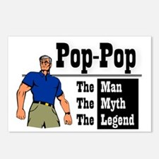 Pop-Pop The Man, The Myth Postcards (Package of 8)