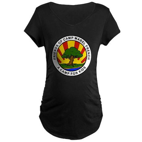 ROUND SET_FOCMF LOGO Maternity Dark T-Shirt