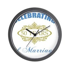 Celebrating 50 Years Of Marriage Wall Clock
