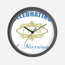 Celebrating 1 Year Of Marriage Wall Clock