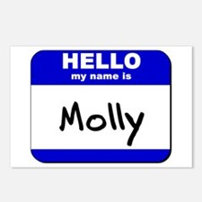hello my name is molly  Postcards (Package of 8)