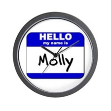 hello my name is molly  Wall Clock