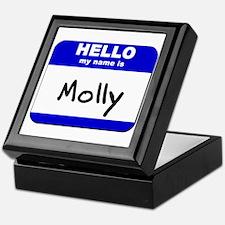 hello my name is molly Keepsake Box