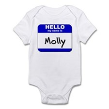 hello my name is molly  Onesie