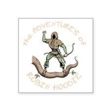 "robin-hoodie-DKT Square Sticker 3"" x 3"""