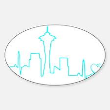 Seattle Heartbeat (Heart) AQUA Decal