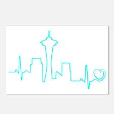 Seattle Heartbeat (Heart) Postcards (Package of 8)