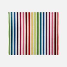 Rainbow Skinny Stripes Throw Blanket