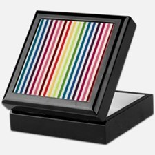 Rainbow Skinny Stripes Keepsake Box