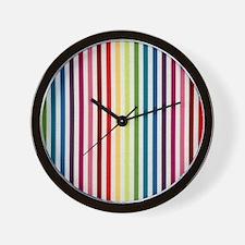 Rainbow Skinny Stripes Wall Clock