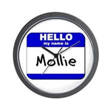 hello my name is mollie  Wall Clock