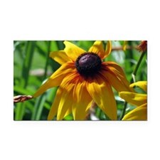 Yellow Flower Rectangle Car Magnet