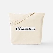 I Eat Apple Juice Tote Bag