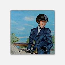 """Pretty Equestrian Horse Sho Square Sticker 3"""" x 3"""""""