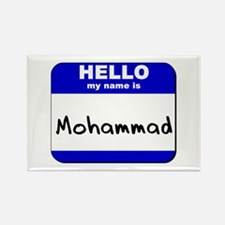 hello my name is mohammad Rectangle Magnet