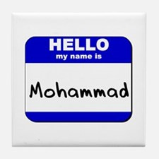 hello my name is mohammad  Tile Coaster