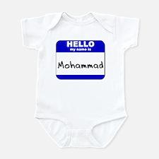 hello my name is mohammad  Infant Bodysuit