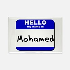hello my name is mohamed Rectangle Magnet