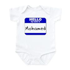 hello my name is mohamed  Infant Bodysuit