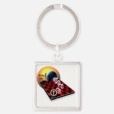 Christian Checkers Square Keychain